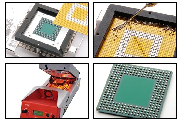 Circuit board rework and repair - BGA component rework and repair