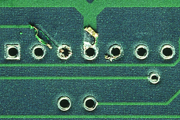 Circuitry and Plated Hole Repair